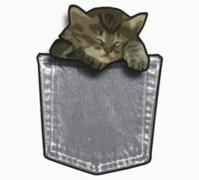 Sleeping cat in a pocket Kids Clothes