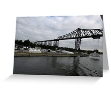 Kiel Canal People Mover in Germany Greeting Card