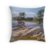 Stones and pines Throw Pillow