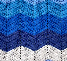Blue Crocheted Afghan Blanket by GreenSpeed