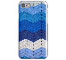 Blue Crocheted Afghan Blanket iPhone Case/Skin