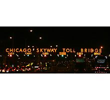 CHICAGO SKYWAY TOLL BRIDGE CHICAGO ILLINOIS OCTOBER 2010 Photographic Print