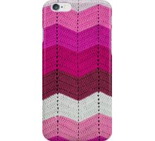 Pink Crocheted Afghan Blanket iPhone Case/Skin