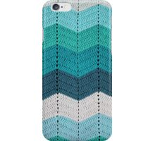 Teal Crocheted Afghan Blanket iPhone Case/Skin