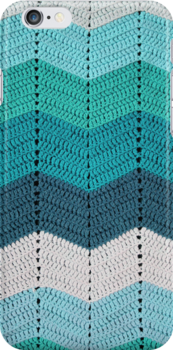 Teal Crocheted Afghan Blanket by GreenSpeed