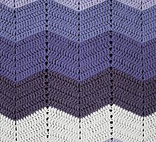 Purple Crocheted Afghan Blanket by GreenSpeed