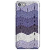 Purple Crocheted Afghan Blanket iPhone Case/Skin