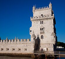 Belem Limestone Tower in Lisbon Portugal by Ren Provo