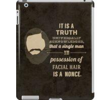 A beardy truth iPad Case/Skin