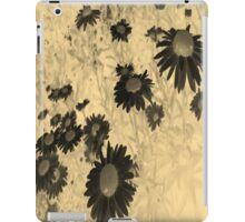 Daisies in Negative and Sepia iPad Case/Skin