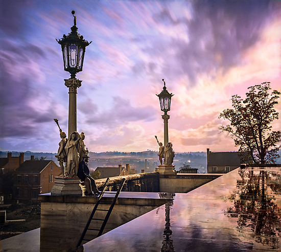 View from Capitol in Nashville, Tennessee, during the Civil War 1864 by Sanna Dullaway