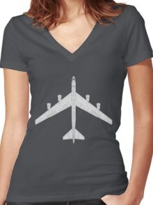 Boeing B-52 Stratofortress Women's Fitted V-Neck T-Shirt