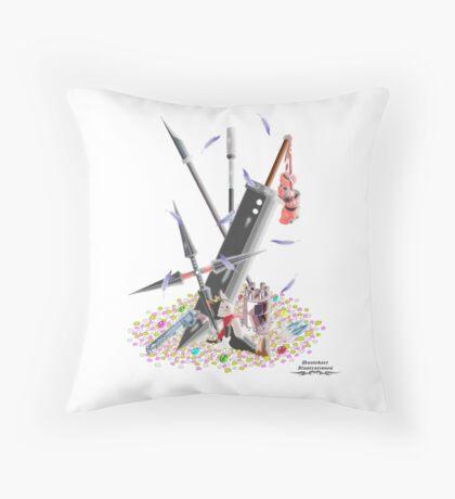 Final Fantasy VII Illustration. Throw Pillow