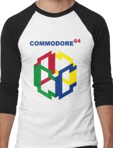 Commodore 64 Nintendo Mashup Men's Baseball ¾ T-Shirt