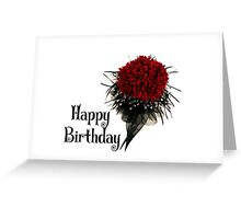 Happy Birthday - Flower Greeting Card