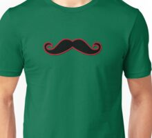 Handlebar Moustache, Polka Dots - Black Green Red Unisex T-Shirt