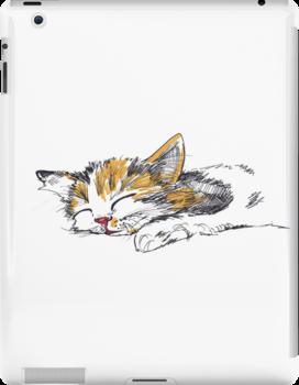 Sleeping Kitten by Katarina Nice