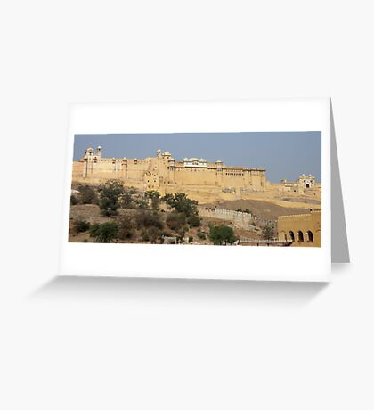 Amber Fort near Jaipur India Greeting Card