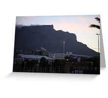 Iconic Table Mountain in Cape Town Greeting Card
