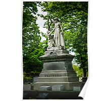 Statue in Cemetery Poster