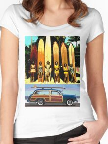 Cool Babes & Hot Rod Women's Fitted Scoop T-Shirt