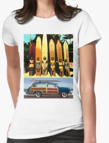 Cool Babes & Hot Rod Womens Fitted T-Shirt