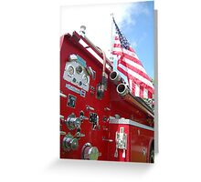 Red,white,blue and chrome  Greeting Card