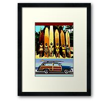 Cool Babes & Hot Rod Framed Print