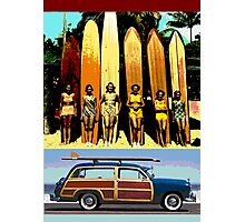 Cool Babes & Hot Rod Photographic Print