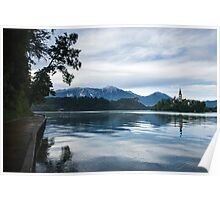 After storm light over Lake Bled Poster