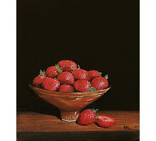 Still Life with Strawberries Photographic Print