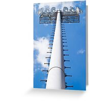 Vertical Stadium Floodlight Tower Greeting Card