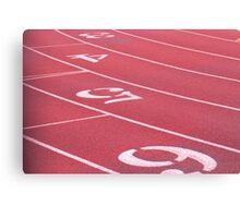 Running Track Canvas Print