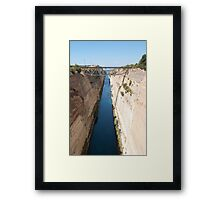 Corinth Canal Framed Print