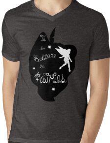Peter Pan Silhouette Mens V-Neck T-Shirt