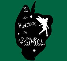 Peter Pan Silhouette Womens Fitted T-Shirt