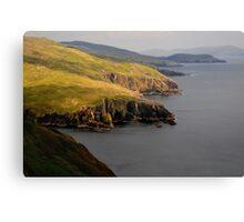 Cliffs in the spotlight Canvas Print