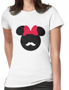 Minnie Mouse-tache  Womens Fitted T-Shirt