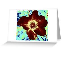 Velvet Dog Rose Greeting Card