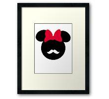 Minnie Mouse-tache  Framed Print