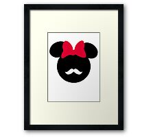 Minnie Mouse-tache  Framed Print