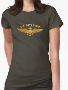 Navy Pilot ( t-shirt ) Womens Fitted T-Shirt