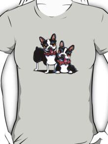 Merry Gentlemen   Boston Terriers T-Shirt