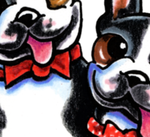 Merry Gentlemen   Boston Terriers Sticker