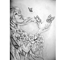 Beauty and the Butterflies 1 Photographic Print