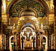 The Central Alter in the Cathedral Basilica St. Louis Missouri by barnsis