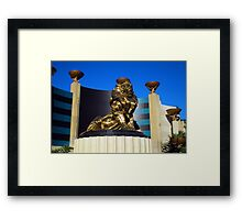 MGM GRAND LAS VEGAS NEVADA MARCH 2007 Framed Print