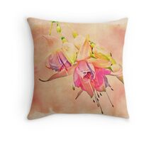 Dancing In the Breeze - Fuchsia Blossoms Throw Pillow