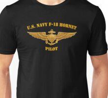 Navy F-18 Pilot (T-Shirt) Unisex T-Shirt