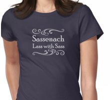 Sassenach Lass with Sass Womens Fitted T-Shirt